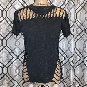 AFFLICTION Black Wash Shirt